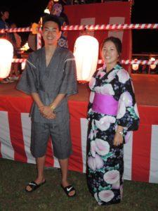 Mein Bruder und ich im Yukata